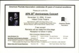 APA Twenty Fifth Anniversary Concert flyer