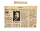 Padilla Balances Words and Music Well clipping