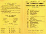 Athenaeum Turners 1950-1951 calendar of events
