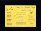 Our 1964 Orchestra Concert flyer