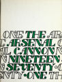 Arsenal Cannon, 1971, cover