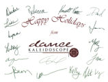 Happy Holidays from Dance Kaleidoscope card with photograph
