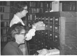 Photograph of the Art and Music Division card catalogs at Central Library