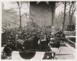 Photograph of spectators at cornerstone laying ceremony for Central Library, 1916
