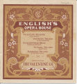 English's Opera House : [program], No. 3.