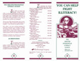 You Can Help Fight Illiteracy brochure