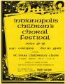 Indianapolis Children's Choral Festival flyer (1986)