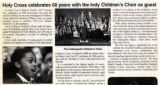 Holy Cross celebrates 60 years with Indy Children's Choir as guest clipping