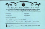 Indianapolis Children's Choir registration form