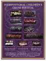 International Children's Choir Festival program