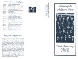 Indianapolis Children's Choir 10th anniversary brochure