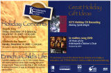 Holiday concerts mailer