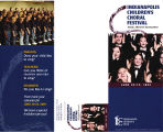 Indianapolis Children's Choral Festival brochure