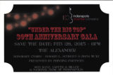 30th Anniversary Gala Under the Big Top save the date card