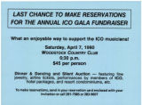 Last chance to make reservations for the annual ICO gala fundraiser
