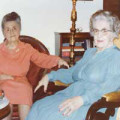 Taped interview with Berniece H. Glass and Marjorie H. Montgomery (transcript)