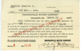 Indianapolis Water Company certificate of deposit receipt