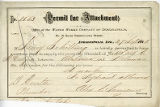 Indianapolis Water Company permit of attachement