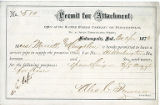 Indianapolis Water Company permit for attachment for Mess. Merritt and Coughlen
