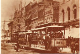 Indianapolis trolley car at the turn of the century