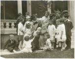 James Whitcomb Riley surrounded by children