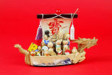 Treasure boat with Seven Lucky Gods
