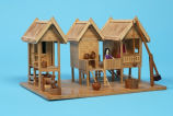 Model of stilt houses