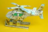 Toy hydrocopter made from recycled materials