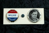 Wendell Willkie political compact and button