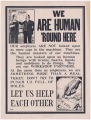 We are human 'round here