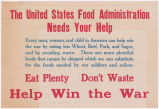 United States Food Administration needs your help