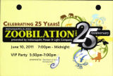 2011 Zoobilation 25th Anniversary Save the Date card