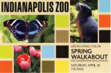 Indianapolis Zoo Life in Living Color Spring Walkabout mailer