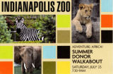 Indianapolis Zoo Adventure: Africa! Summer Donor Walkabout mailer