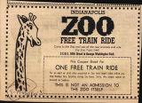 Zoo train ride advertisement