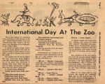 International Day at the Zoo clipping