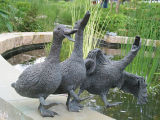 Sculptures in White River Gardens photograph